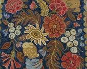 A Secret Garden in 2 sizes rug hooking pattern