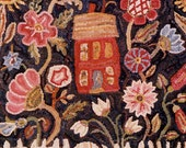 A Towne Garden in 2 sizes rug hooking pattern