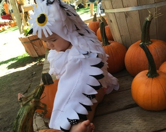 The Newest Hedwig Owl, Harry Potter Owl Costume, Hedwig, Halloween, white owl, custom made costume, Black and white owl, costume, Halloween
