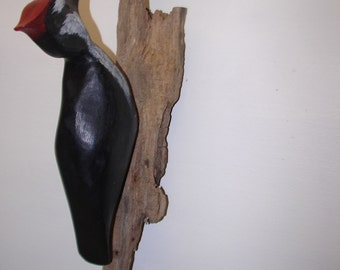 Bird Wood Carving Pileated Woodpecker