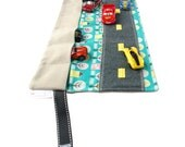 Toys for Boys – Car Carrier Toy – Pretend Play – Vroom Vroom Car Play Mat – Ring Bearer Gifts - Car Playscape - Rose Serenity