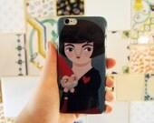Amélie Poulain & dwarf iPhone case, 3D illustrated cover