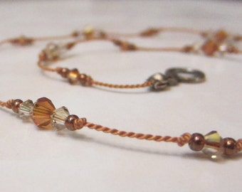 Copper Knotted Necklace
