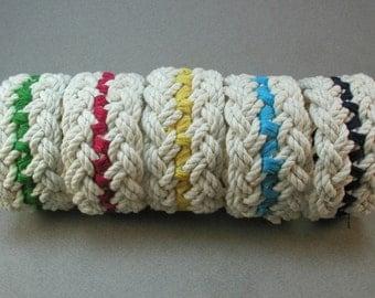 double rope bracelet with stitching cotton bracelet color accent rope bracelet  3233