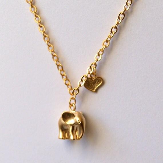 gold elephant necklace baby elephant jewellery necklace uk