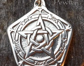 Protection Amulet - Pewter Pendant - Strong commanding of your space, Rune, Celtic, Norse, Pagan, Renaissance Jewelry