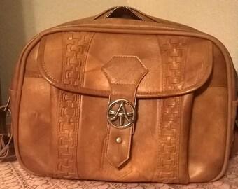 American Tourister Shoulder Bag - Tan - Carry on - Vinyl
