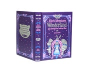 Purple Alice In Wonderland Ring Holder Engagement Proposal Surprise Box Handmade Heart Cut Out Black Velvet Ribbon Premium - CUSTOM ORDER