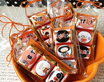 Halloween Kids Nugget Wraps / Hershey Candy Wraps / Orange /Teacher Appreciation /Party Favor /Classroom Treats / Party Treats