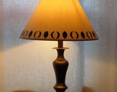 Anais brass table lamp with decorated to match shade