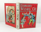 Dorothy and the Wizard in Oz by L Frank Baum, 1960s Reilly Lee White Cover Reprint, John R Neill,