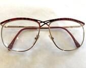 Vintage glasses Italian glasses retro glasses Red glasses Black glasses Striped Glasses vintage Frames granny glasses grandpa glasses