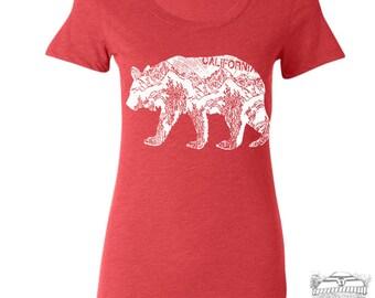 Womens CAlifornia BEAR -  Lightweight Tri Blend t shirt [+Colors] S M L XL XXL