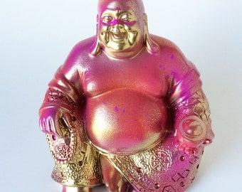 Buddha, Statue, Zen Figurine, Asian Art, Spiritual, Office Accessories, Laughing Buddha, Thai Statue