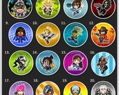 "Overwatch Hero Pins - 1.5"" Pin Buttons or Magnets"