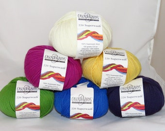 Cascade 220 Superwash, Cascade Yarns Destash, Superwash Wool for Knitting and Crocheting