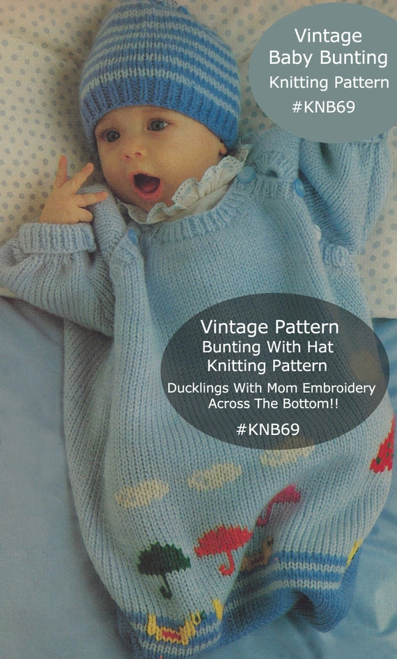 Baby Bunting Bag Knitting Pattern : Bunting Baby Bunting Bag Knitting Pattern ADORABLE Knitting