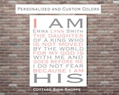 I Am His The Daughter Of A King, Personalized Nursery Decor, DIY PRINTABLE,Personalized Baby Shower Gifts,Gifts For baby Girls,Newborn Gifts