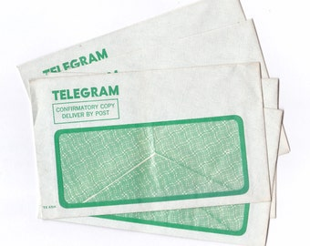 Vintage Australia Post Telegram Envelopes Post Office x 5  UNUSED  for Crafting or Collecting
