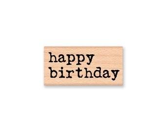 happy birthday~Rubber Stamp~Birthday Stamp~Birthday Party~Celebration~DIY Birthday Card Crafting~wood mounted rubber stamp (55-23)
