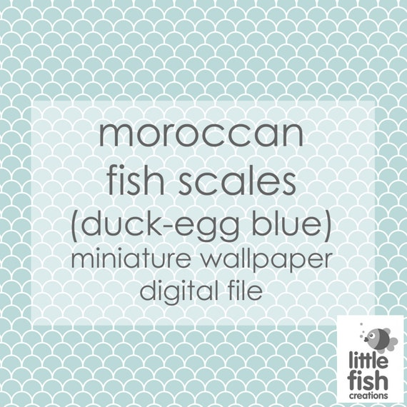 Digital download quot moroccan fish scales duck egg blue