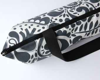 "Yoga Mat Bag, Yoga Bag for a Wide Mat, Yoga Mat Carrier, Gray Yoga Bag - fits 26"" wide mats"