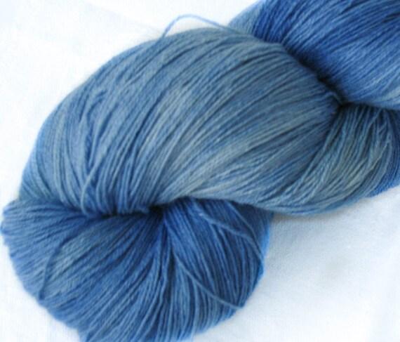 Hand Dyed Yarn : Hand dyed silk - superwash wool yarn, thread, crochet yarn