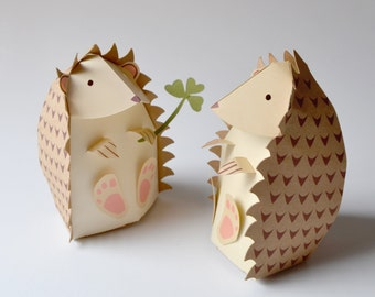 Paper Hedgehog Gift Box