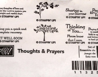 Stampin' Up! Rubber Stamp Thoughts & Prayers