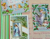 Angels and Cherubs of Antique Postcards in Lot No 64 Embossed and Lovely Lot of 3 circa 1910s Holly Border Bells