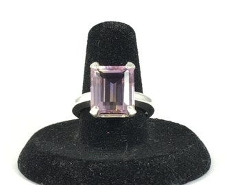 Ametrine Gemstone Ring, Emerald Cut Ametrine Ring, Ametrine Ring, Ametrine Jewelry, Sterling Silver Ring, Gemstone Ring, Size 7.5