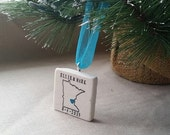 SUMMERSALE Personalized Minnesota Christmas Ornament - Holiday Gift - Wedding Gift For the Couple