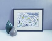 Amsterdam City Map / A4 Art Print / Digital Art Print / Amsterdam Print / City Map