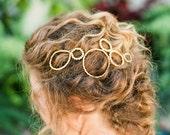 """Modern style circle motif wedding hair comb """"Payton"""""""