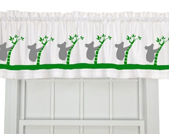 Koala Bear Bamboo Window Valance Curtain - Your Choice of Colors