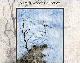 Art BOOK Into The Woods-a collection of Dark Woods paintings by Amy Brown signed by artist