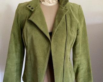 Vintage Green Leather Jacket