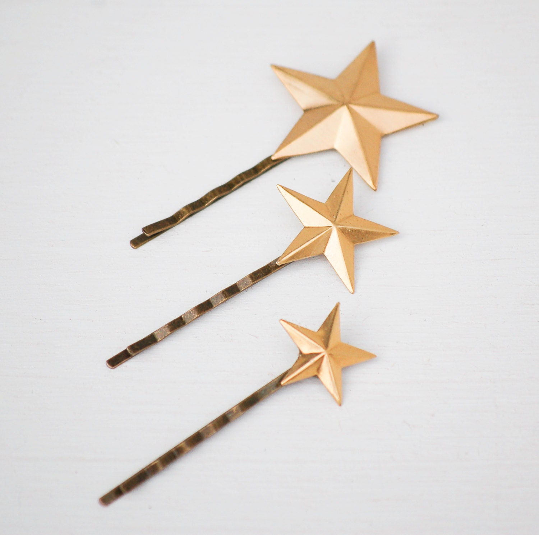 Star Bobby Pin Gold Star Hair Pin Gold Star Hair Clips