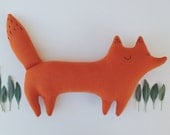 Huckleberry the stuffed toy fox, orange woodland fox, woodland nursery, woodland decor, fox plushie, fox pillow