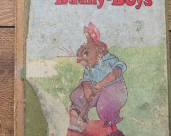 vintage 20s children picture book the Adventures of the BUNNY-BOYS