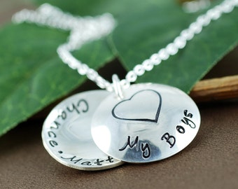 Love my Boys Necklace | Personalized Locket Necklace | Personalized Jewelry | Locket Necklace for Mom | Locket Style Jewelry | Name Necklace