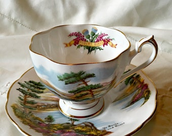 Porcelain cup/saucer, teacup and saucer set,famous poets teacup Queen Ann china tea party setting hostess gift tea lovers gift, china teacup