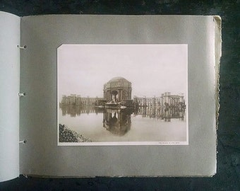 Vintage Photograph Book Panama-Pacific International Exposition San Francisco 1915