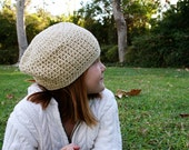 Girls Slouchy Hat or Womens Skull Cap Fitted Beanie for Women Men or Teens Unisex Hat Cream Hat Skater Boy Spring Beanie or Pick Your Color