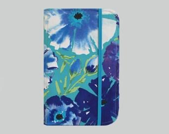 Kindle Cover Hardcover, Kindle Case, eReader, Kobo, Kindle Voyage, Kindle Fire HD 6 7, Kindle Paperwhite, Nook GlowLight Blue Flowers