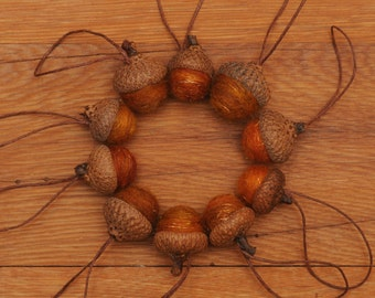 Orange Felted Acorns with Shimmer,  Also Available as Ornaments