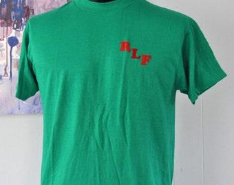 Super Soft n Thin Green Tshirt RLF Ralph Simple Classic Tee Near Burnout Medium