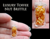 Luxury Christmas Toffee Nut Brittle - Artisan fully Handmade Miniature in 12th scale. From After Dark miniatures.