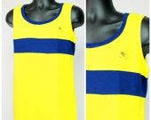 70s Athletic Tank / Athleisure 70s Tank / Vintage Mens Athletic Retro Tank / Mens Sporty Fitted Tank / Color Block Fitted Mens Tank