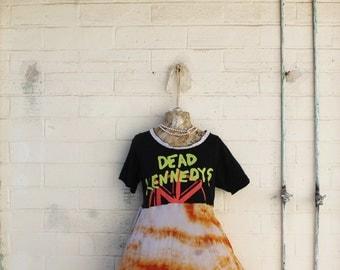 Medium/Large Grunge Punk Dress/Upcycled Clothing/Skate dress/Vintage Dress/Eurotrash girl/Clockwork Orange/Dead Kennedys/Jello Biafra/Punk